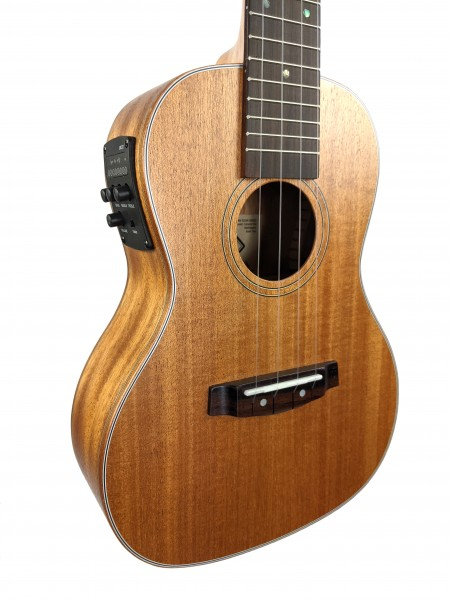 FLOW Concert Ukulele Mahagoni solid Top EQ
